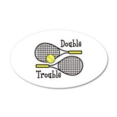 DOUBLE TROUBLE Wall Decal