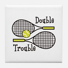 DOUBLE TROUBLE Tile Coaster