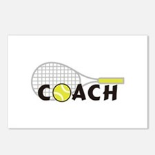 TENNIS COACH Postcards (Package of 8)
