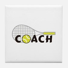 TENNIS COACH Tile Coaster