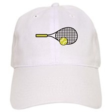 TENNIS RACQUET & BALL Baseball Cap