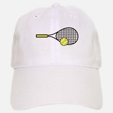 TENNIS RACQUET & BALL Baseball Cap