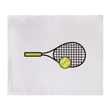 TENNIS RACQUET & BALL Throw Blanket
