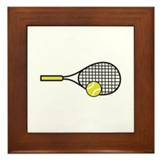 TENNIS RACQUET & BALL Framed Tile