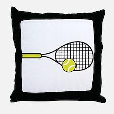 TENNIS RACQUET & BALL Throw Pillow