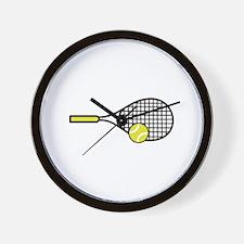 TENNIS RACQUET & BALL Wall Clock