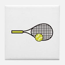 TENNIS RACQUET & BALL Tile Coaster