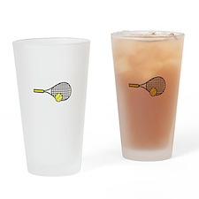 TENNIS RACQUET & BALL Drinking Glass