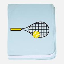 TENNIS RACQUET & BALL baby blanket