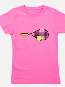 TENNIS RACQUET & BALL Girl's Tee
