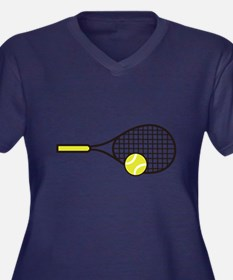 TENNIS RACQUET & BALL Plus Size T-Shirt