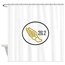 MARATHON APPLIQUE Shower Curtain