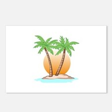 PALM TREES AND SUN Postcards (Package of 8)