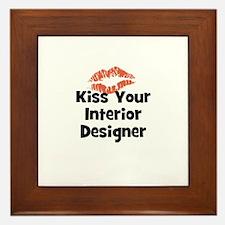 Kiss Your Interior Designer Framed Tile