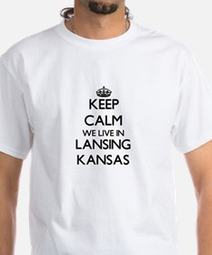 Keep calm we live in Lansing Kansas T-Shirt