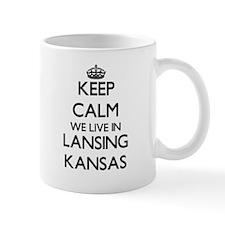 Keep calm we live in Lansing Kansas Mugs