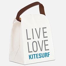 Live Love Kitesurf Canvas Lunch Bag