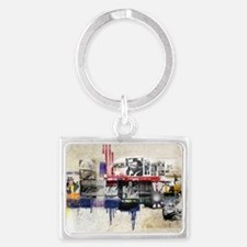 America in the 20th Century Col Landscape Keychain
