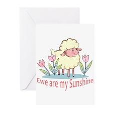 EWE ARE MY SUNSHINE Greeting Cards