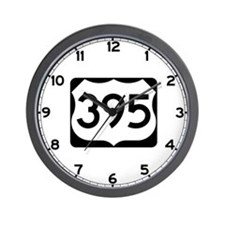 US Route 395 Wall Clock