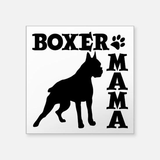 """BOXER MAMA Square Sticker 3"""" x 3"""""""