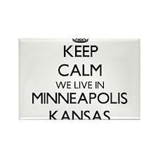 Keep calm we live in Minneapolis Kansas Magnets