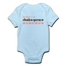 Love Shakespeare Blue Brown Infant Onesie Bodysuit