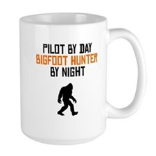 Pilot By Day Bigfoot Hunter By Night Mugs