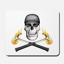 Skull and Flaming Hammers Mousepad
