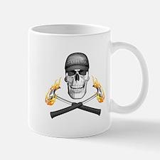 Skull and Flaming Hammers Mugs