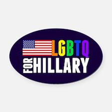 LGBTQ Hillary Oval Car Magnet