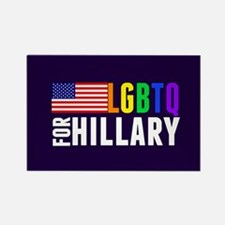LGBTQ Hillary Rectangle Magnet