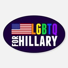 LGBTQ Hillary Sticker (Oval)