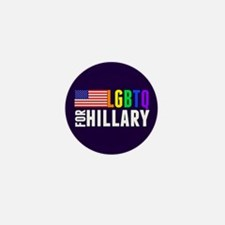 LGBTQ Hillary Mini Button