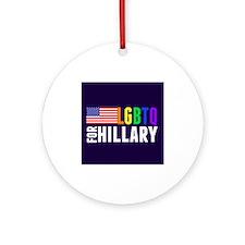 LGBTQ Hillary Ornament (Round)