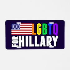 LGBTQ Hillary Aluminum License Plate