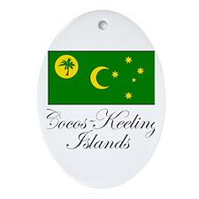 Cocos - Keeling Islands - Fla Oval Ornament