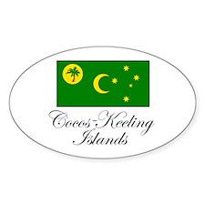 Cocos - Keeling Islands - Fla Oval Stickers