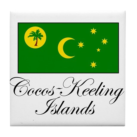 Cocos - Keeling Islands - Fla Tile Coaster