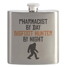Pharmacist By Day Bigfoot Hunter By Night Flask