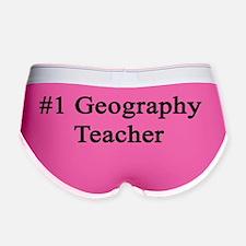 #1 Geography Teacher Women's Boy Brief