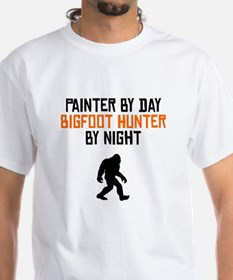 Painter By Day Bigfoot Hunter By Night T-Shirt