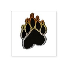 "Funny Bear paw graphics Square Sticker 3"" x 3"""