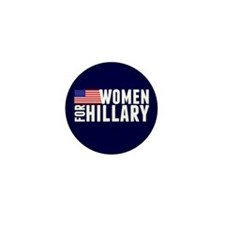 Women Hillary Blue Mini Button (10 pack)