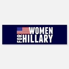 Women Hillary Blue Bumper Bumper Sticker