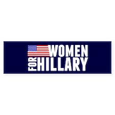Women Hillary Blue Bumper Sticker