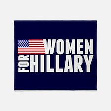 Women Hillary Blue Throw Blanket