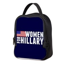 Women Hillary Blue Neoprene Lunch Bag