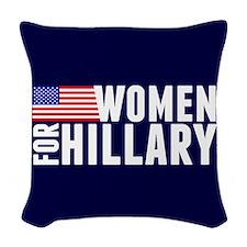 Women Hillary Blue Woven Throw Pillow