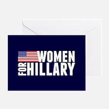 Women Hillary Blue Greeting Card
